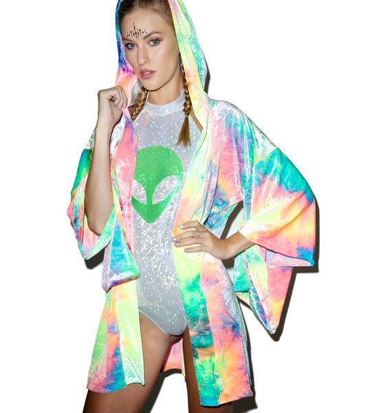 Little Black Diamond Velvet Dreamweaver Kimono