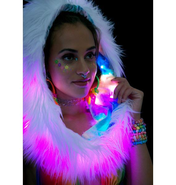 J Valentine Rainbow Firefly Light-Up Infinity Hood