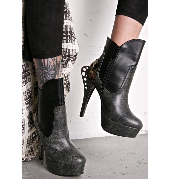 Hades Footwear Nocturne Stiletto Booties