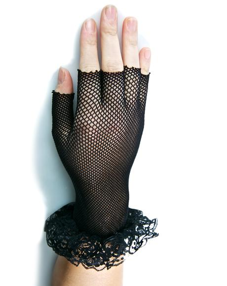 Cold Touch Fishnet Gloves