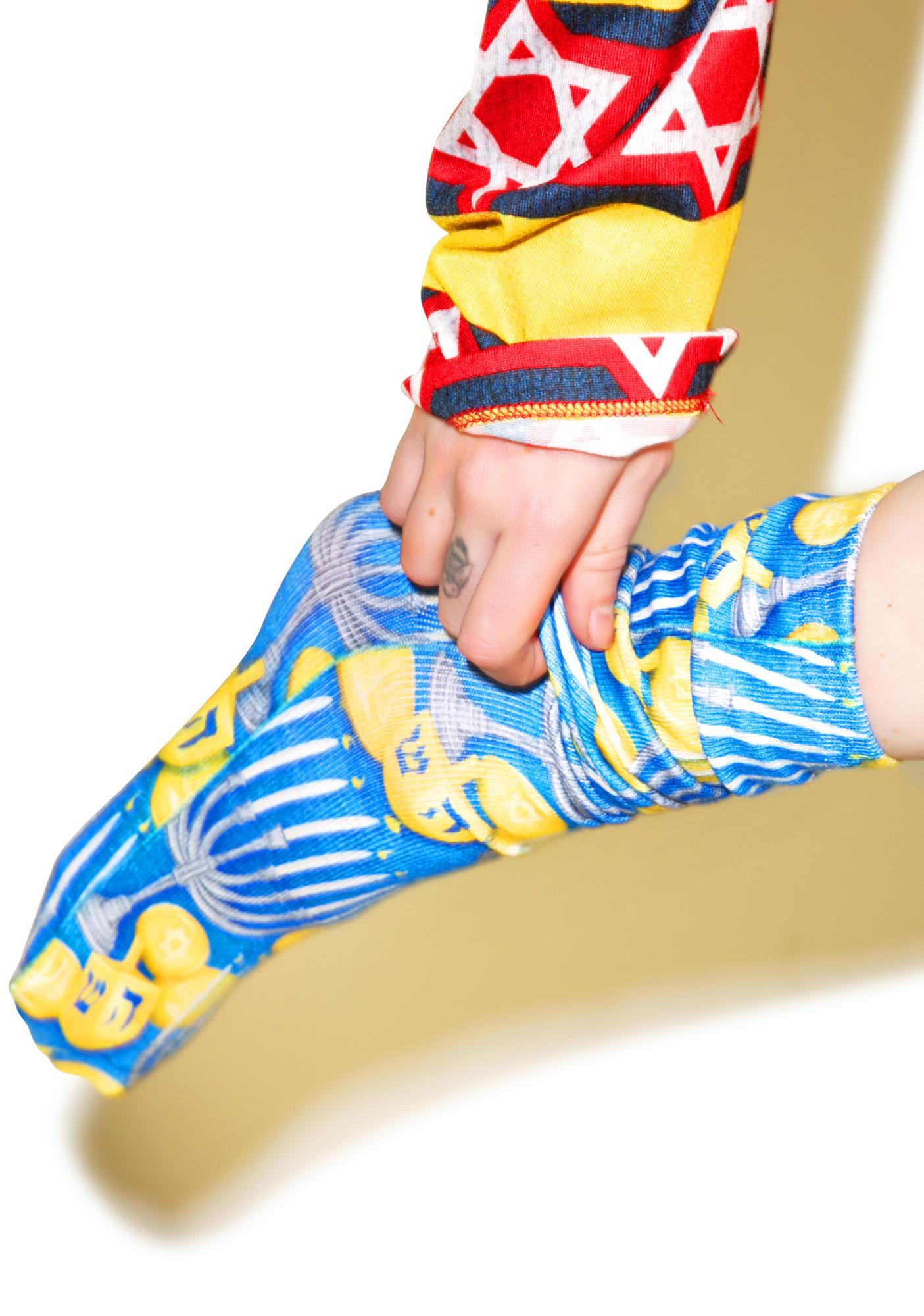 Haute Hanukkah Knee-High Socks