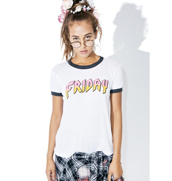 Wildfox Couture Friday Heavy Metal Vintage Ringer Tee