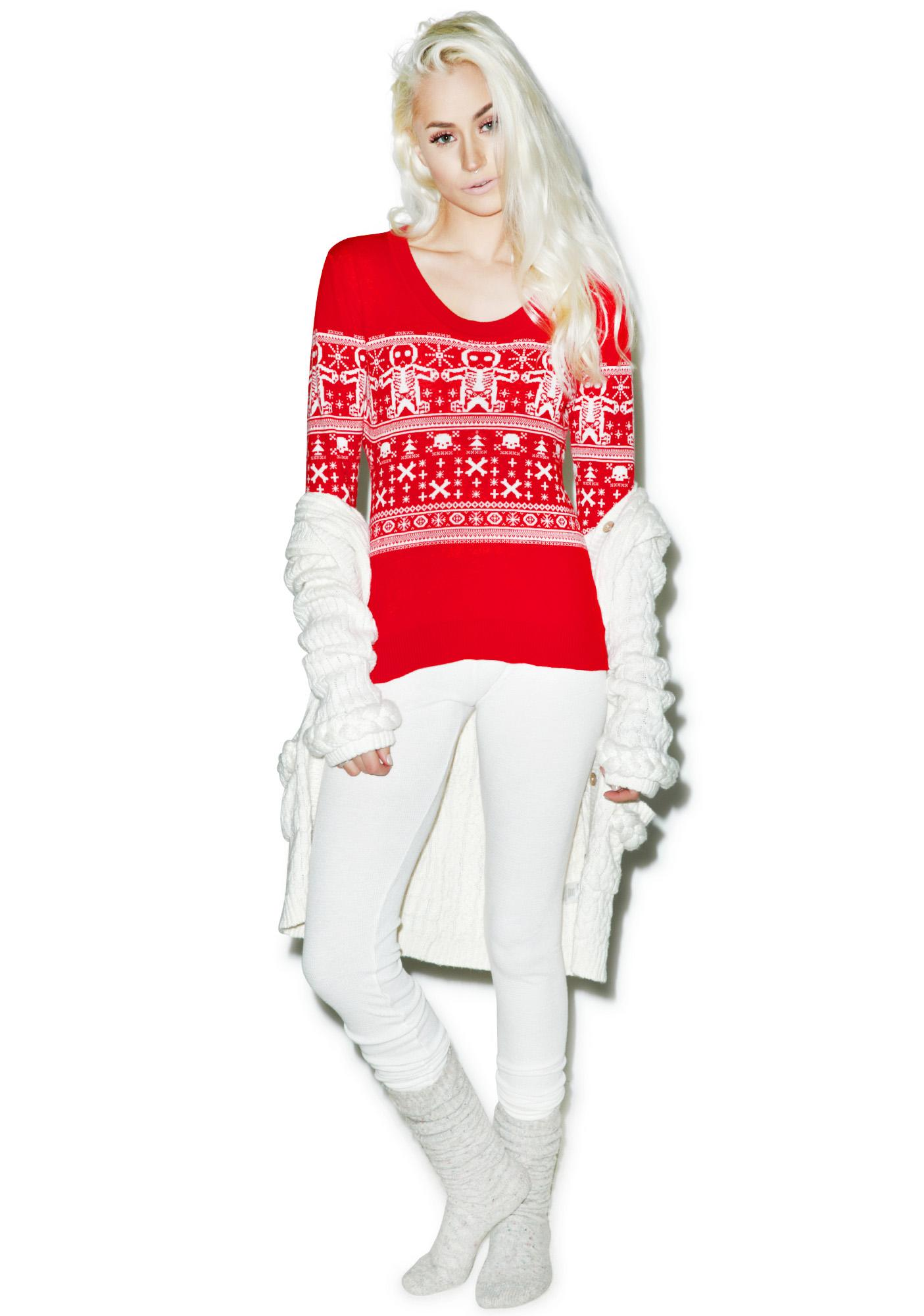 Sourpuss Clothing Gingerbread Sweater