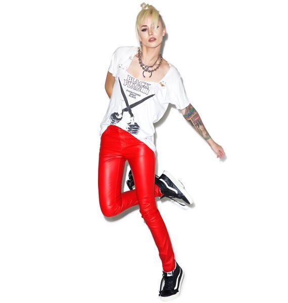 Tripp NYC Hellraiser Faux Leather Skinny Pants