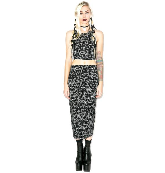 Motel Pentagram Bobby Skirt