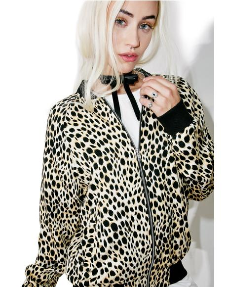 Cheetah Bomber Jacket