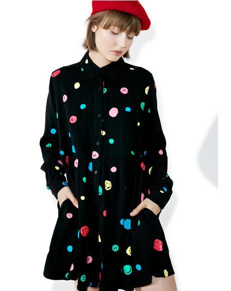 Scribble Spot Dress