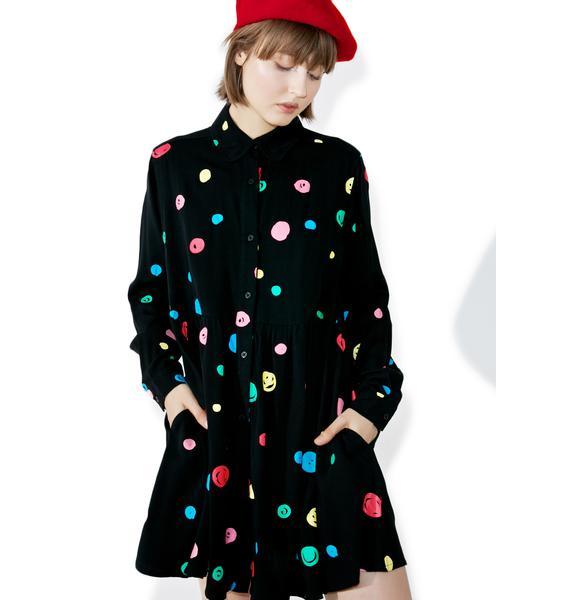 Lazy Oaf Scribble Spot Dress