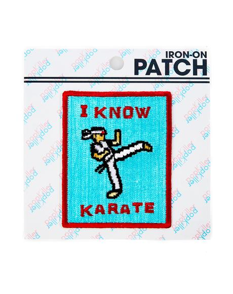 I Know Karate Patch
