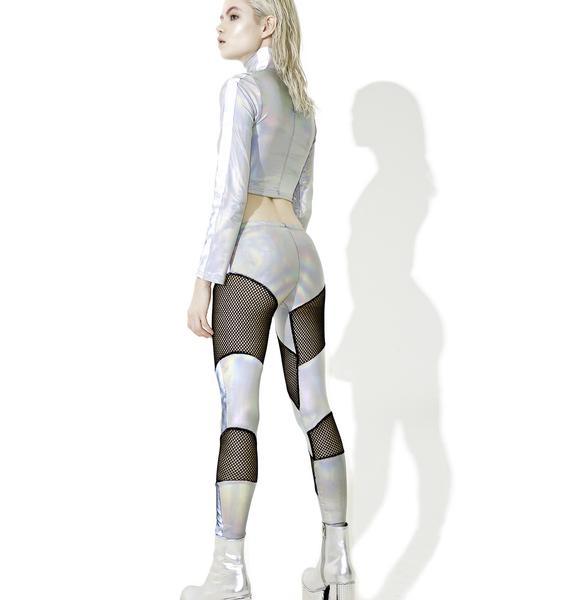 ESQAPE Reflective Mesh Leggings
