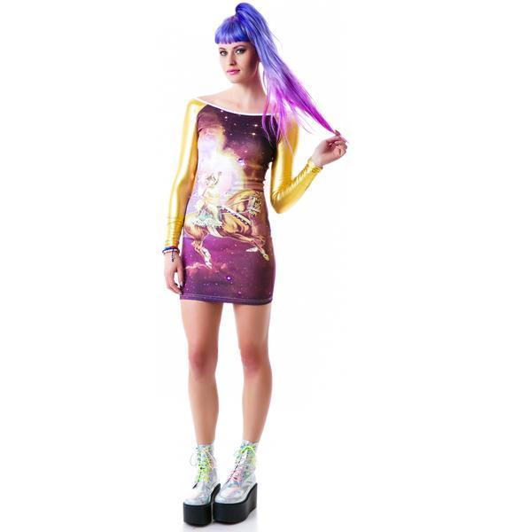Too Fast Galaxy Cat Hazard PVC Dress