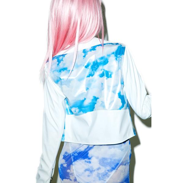 24HRS X Dolls Kill Cloudy Skies Moto Jacket
