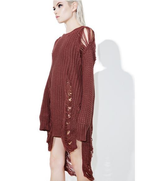 Coagulate Shredded Sweater
