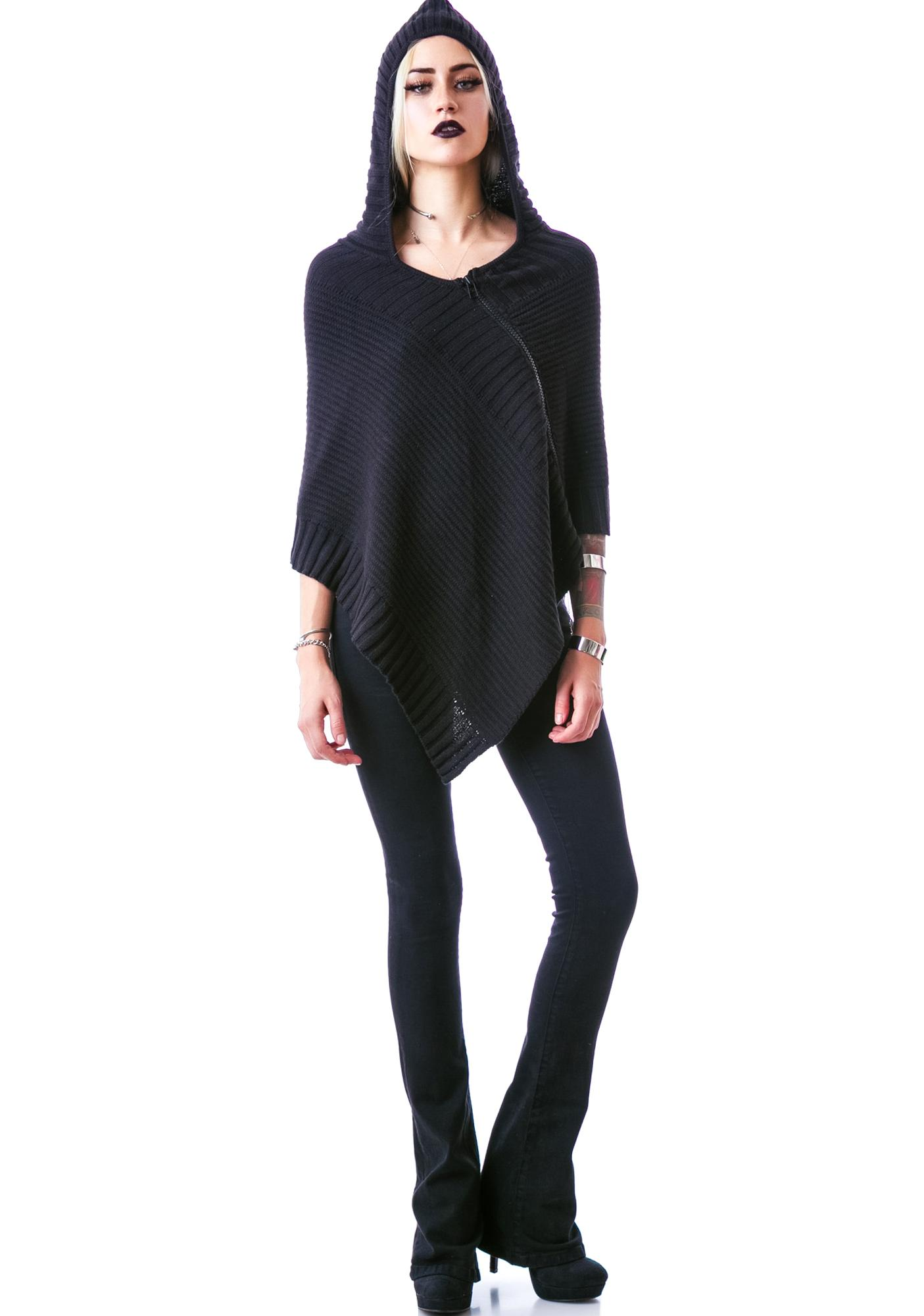 Zip Yer Mouth Knitted Poncho