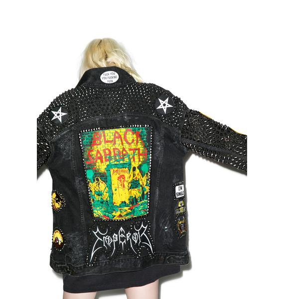 Hazmat Design Funeral Moon Jacket
