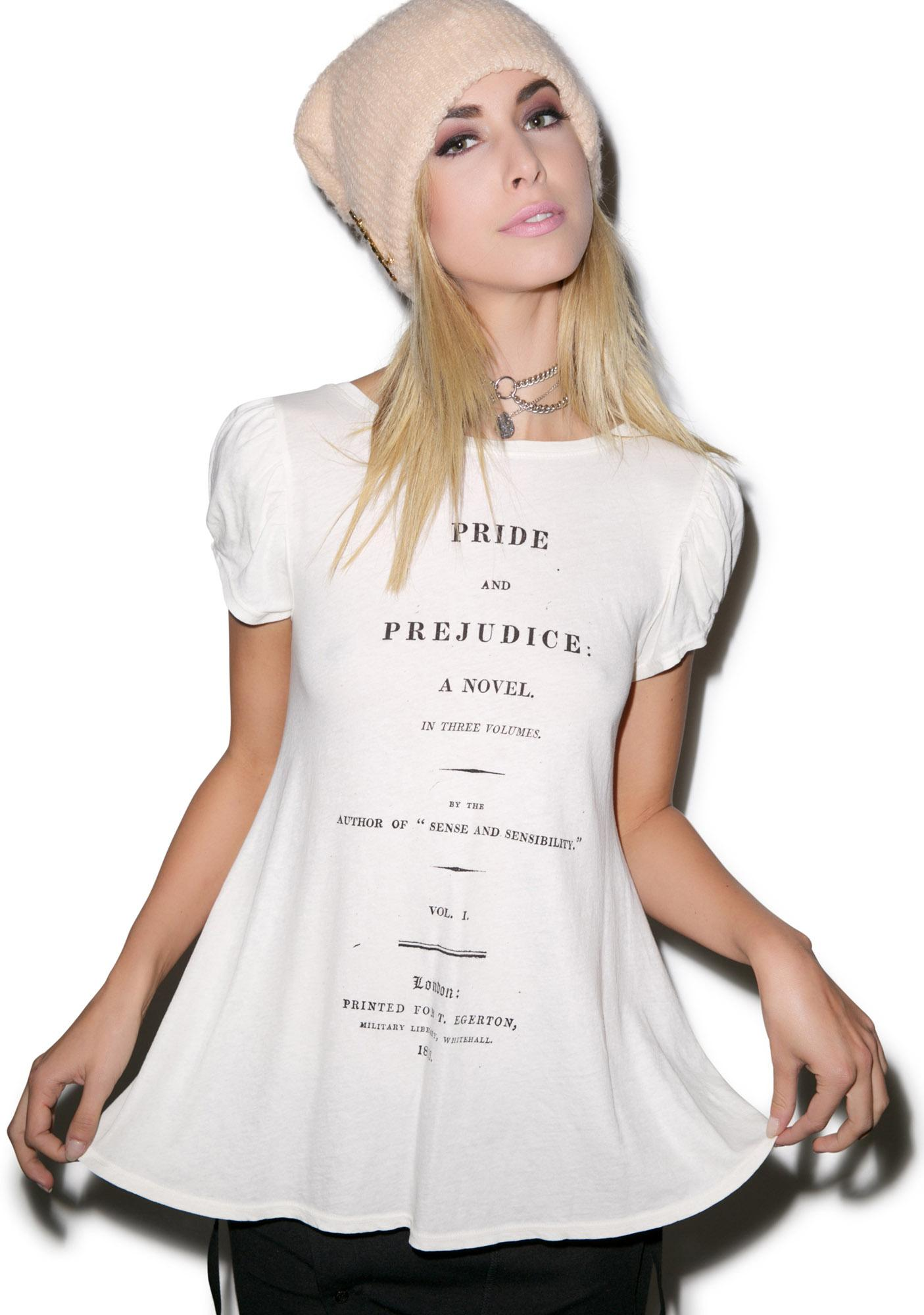 Wildfox Couture Cover Page Austen Lace Up Tee