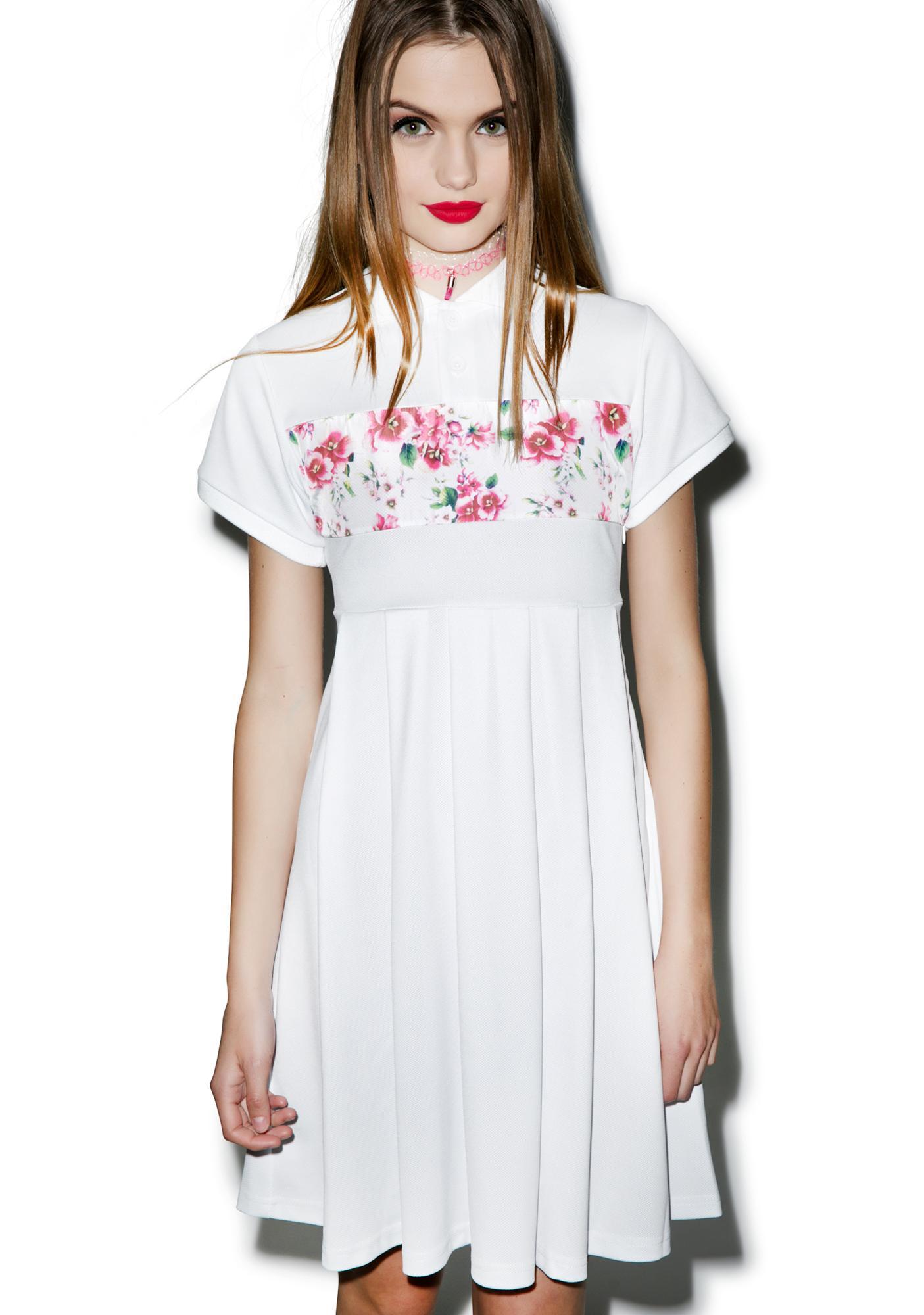Joyrich Sunset Wallflower Polo Shirt Dress