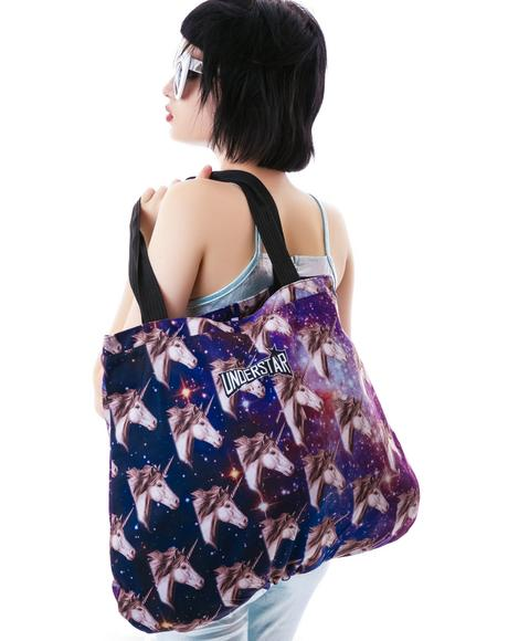 Kaleidoscope Unicorn Tote Bag