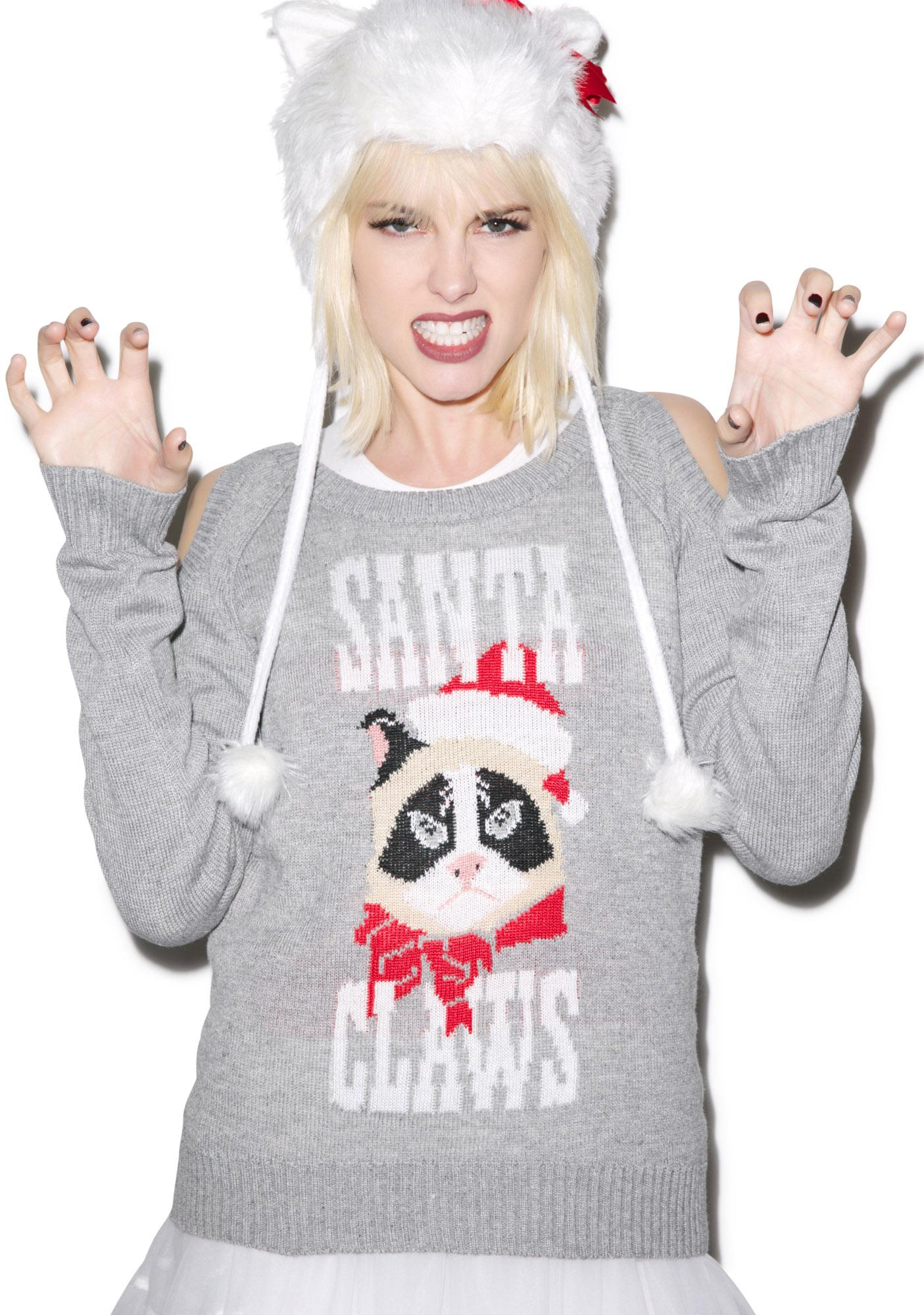 Tipsy Elves Santa Claws Sweater