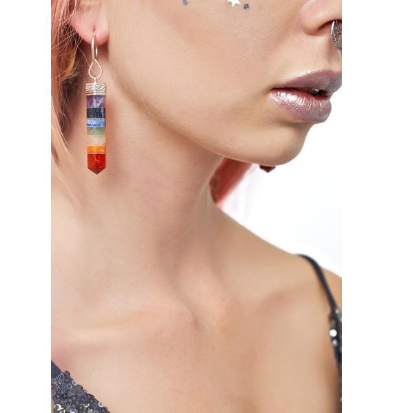 Rock n Rose Nova Seven Chakra Gemstone Earrings
