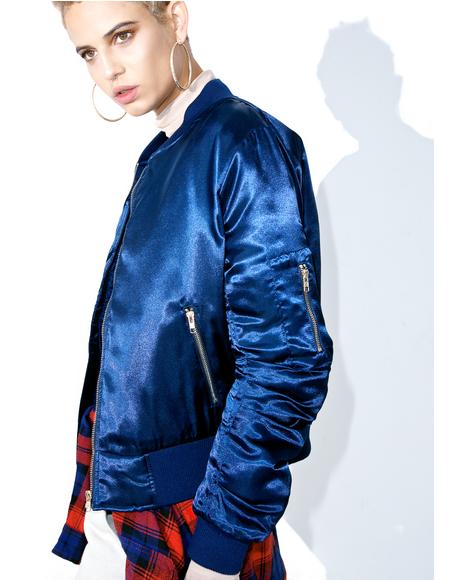 Navy Set The Tone Bomber Jacket