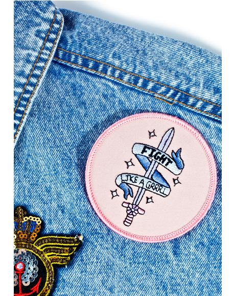 Fight Like A Grrl Patch