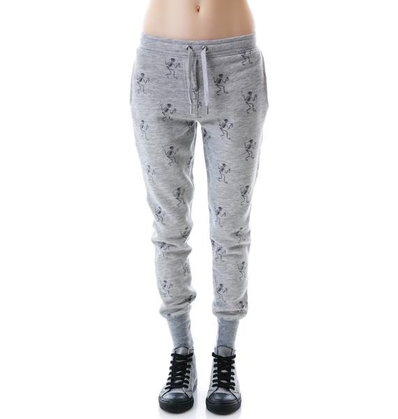 Zoe Karssen All Over Skeleton Pants