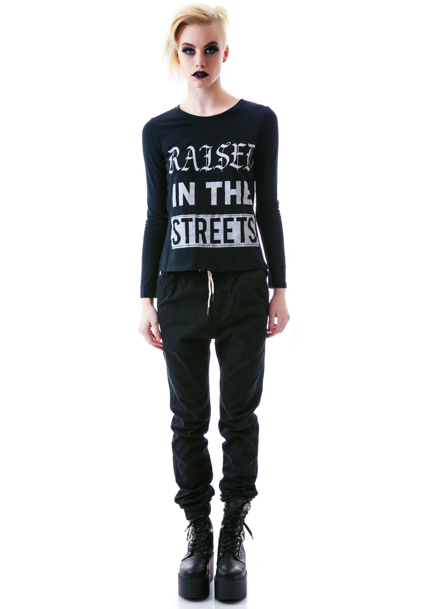 Obesity and Speed Raised in the Streets Long Sleeve Tee