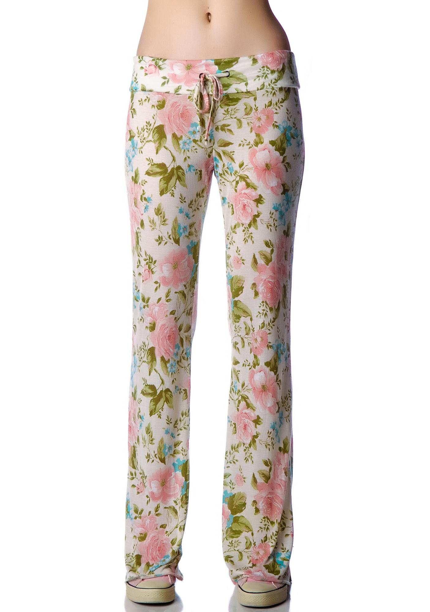 Wildfox Couture Grunge Rose SilverLake Pants