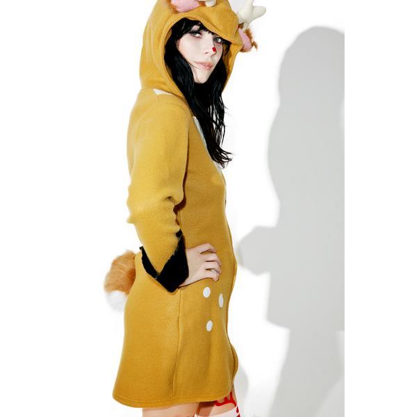 Doe Eyed Hooded Dress