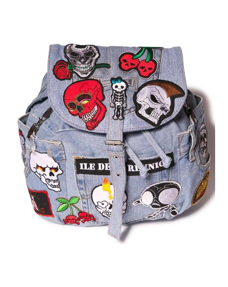 Skull Ride Satchel Bag