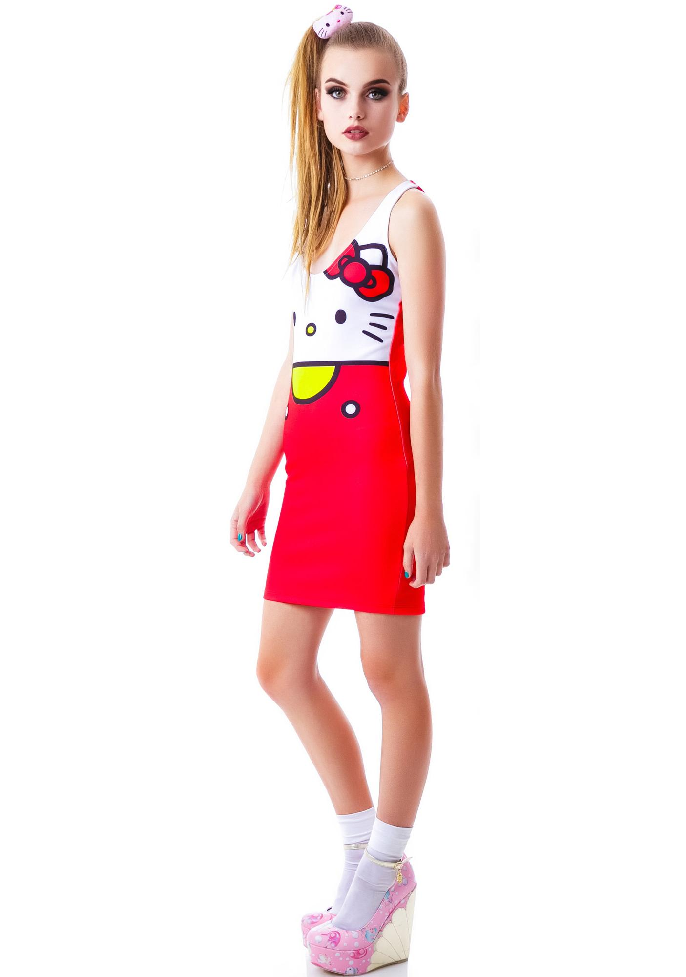 Japan L.A. Hello Kitty Bodycon Dress