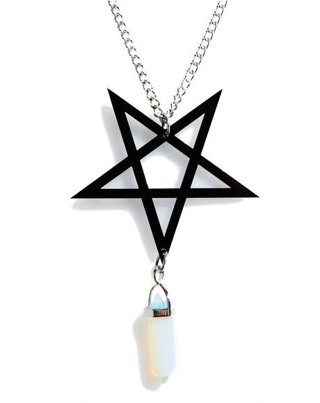Pentagram Crystal Necklace