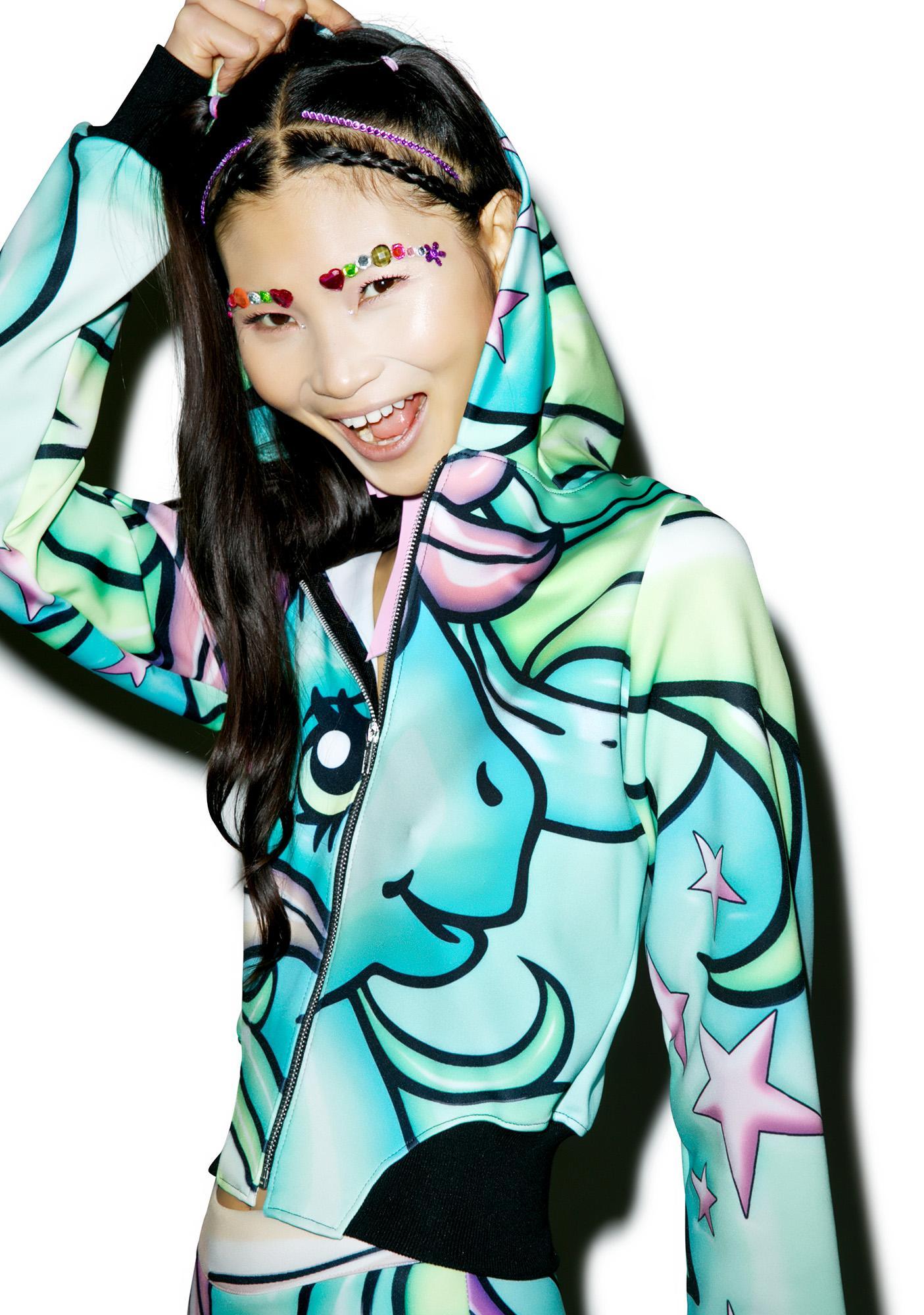 Alice Vandy Starflower Hooded Bomber Hoodie