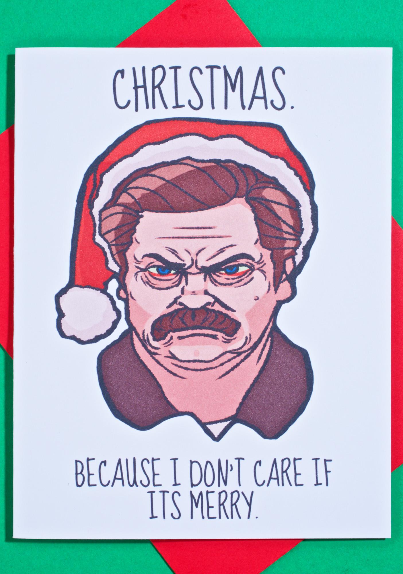 Swanson Scrooge Christmas Card