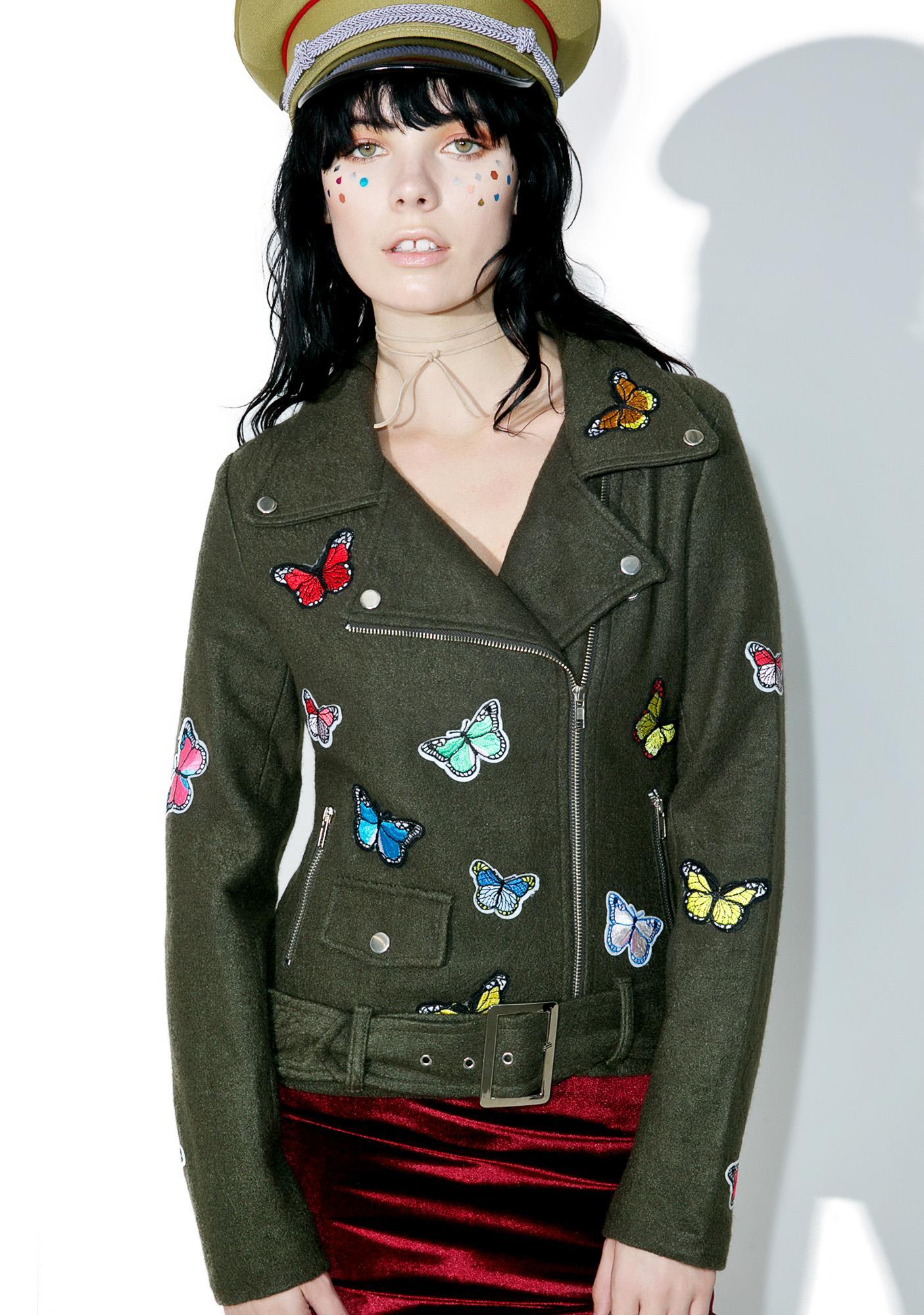 Fluttery Feelings Moto Jacket
