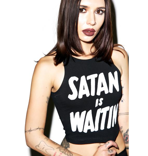 Creep Street Satan Is Waitin' Crop Top