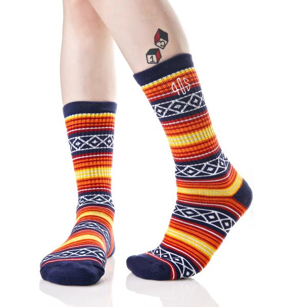 40s & Shorties Tex Mix Baja Crew Socks