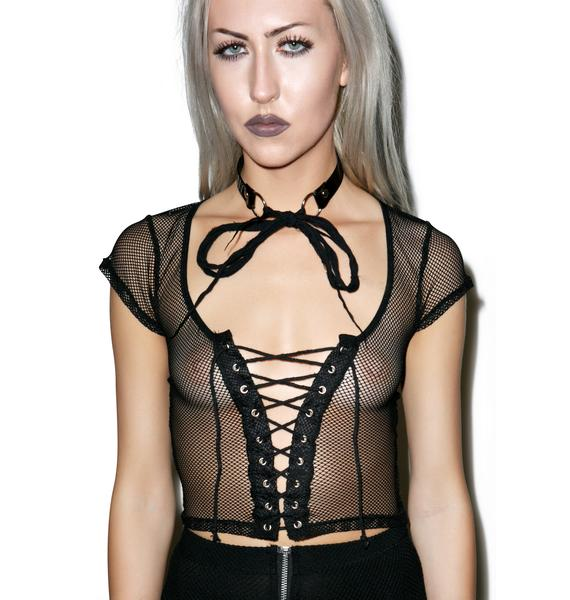 Lip Service Tryst Lace Up Crop Top