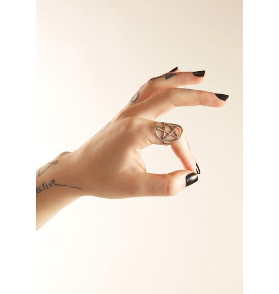 Killstar Pentagram Ring