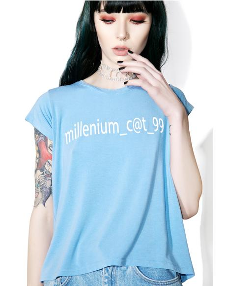 Millennium Cat Fitted Tee