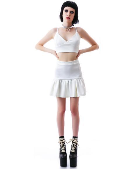 SZA Neoprene Peplum Skirt