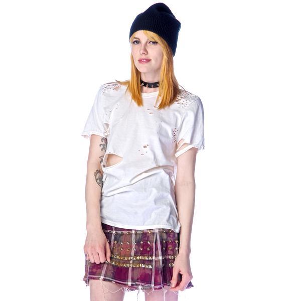 Bess NYC Studded Tartan Kilt