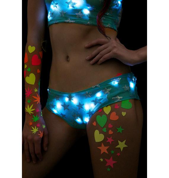 J Valentine Star Voyage Light-Up Boy Shorts