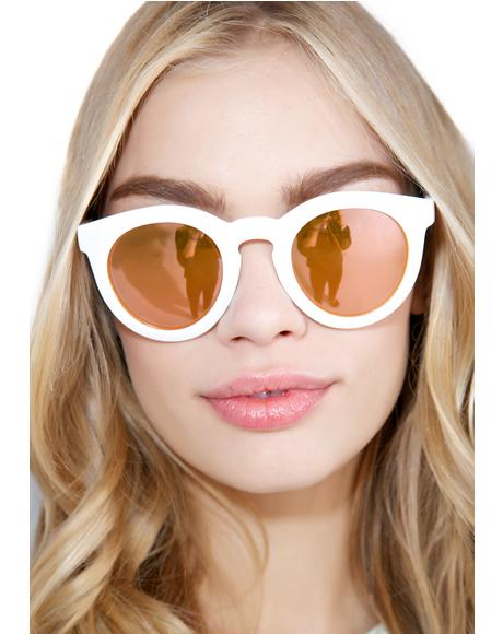 The White TV Eye Sunglasses