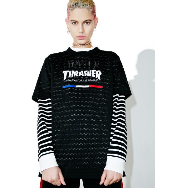 HUF X Thrasher TDS Mesh Jersey