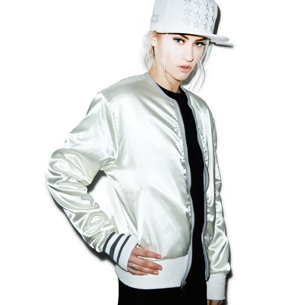Home Run Satin Bomber Jacket