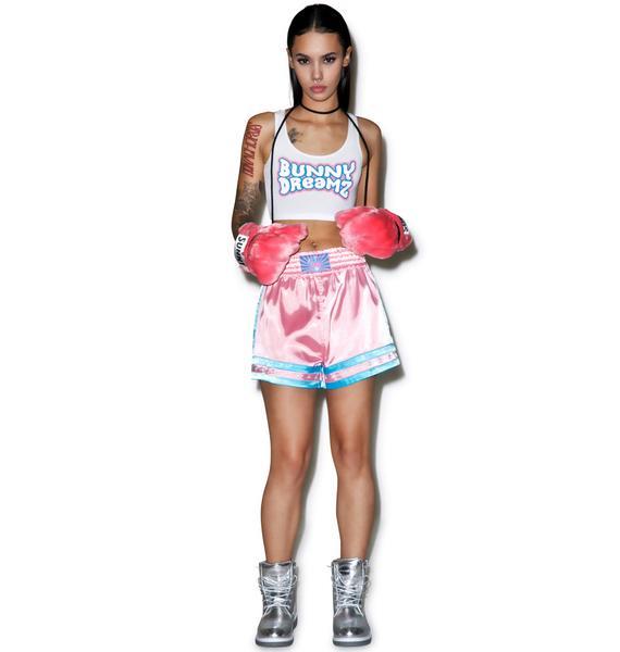 Bunny Dreamz Pastel Muay Thai Satin Shorts
