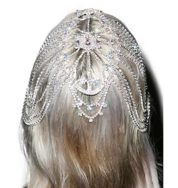 The Seer's Rhinestone Head Piece