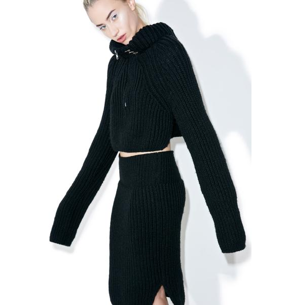 Maria ke Fisherman Noir Knit Top